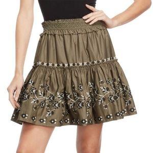 Kate Spade Broome Street Embroidered Poplin Skirt
